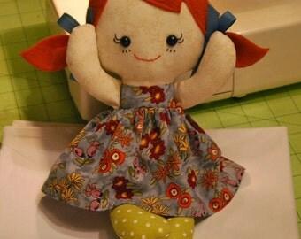 CUSTOM Calico Redhead Ragdoll Baby