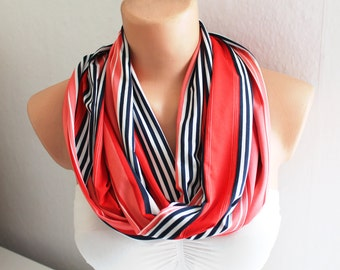 FREE SHIPPING Infinity Scarf - Loop Scarf - Circle Scarf - Striped Scarf