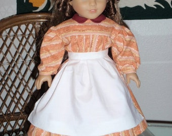 Mid 1800s Civil War Era Work Dress for American Girl Marie Grace Cecile 18 inch doll