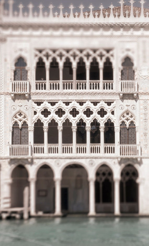 Venice Photography White Gothic Palace on the Grand Canal