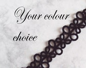 Tatted Lace Bookmark - Your Choice of Colour - Eva - One Colour