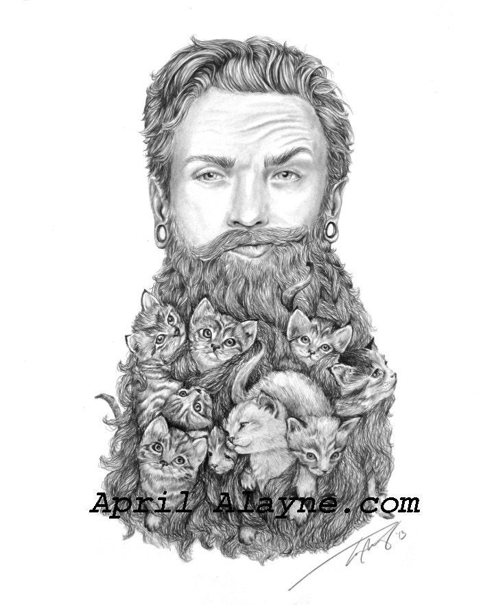 Kitten Beard Illustrat...