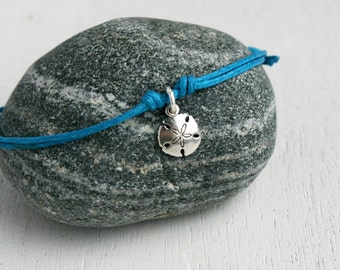 Sand Dollar Bracelet / Sand Dollar Anklet (many colors to choose)