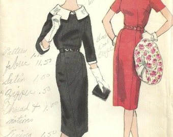 Vintage 50s Sewing Pattern / Vogue 4046 / Special Design / Dress / Size 14 Bust 34