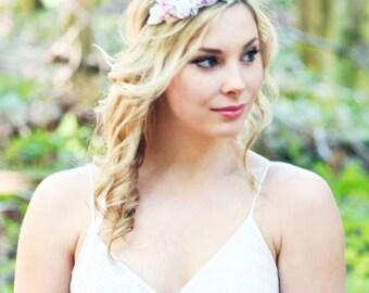 flower crown, bridal headband, wedding headband, bridal headpiece, flower for hair