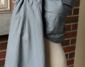 Umi Sling Baby Carrier: Handprinted Cotton-Linen Blend (This Way Gray)