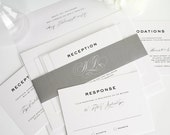 Formal Wedding Invitation, Wedding Invitation, Wedding Invites - Classic Vintage Wedding Invitations - Deposit to Get Started