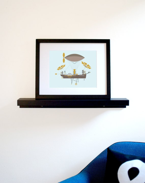 Steampunk Flying Machine Art Print (Free Shipping in US)