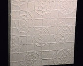 Wedding photo album embossed cotton paper big spirals theme original gift scrapbook guest book made in Italy