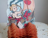 Antique valentine pop up honeycomb hearts and ship Free shipping to USA