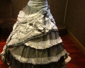 Spectacular Black and White Wedding Dress Vintage Goth - WeddingDressFantasy