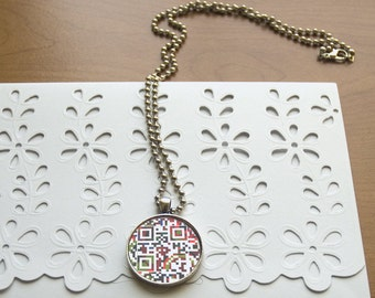 Personalized custom jewelry, July Birthday gift - You Are Beautiful / You Are Loved or personalized message, QR Necklace, propose gift,