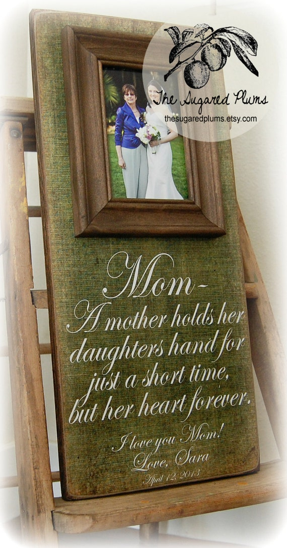 Mother of the Bride Gift Personalized Picture Frame 8x20 Anniversary ...