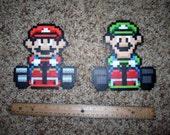 Super Mario Kart Mario & Luigi Wall Sprites
