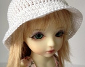 "Custom BJD Bucket Hat for 6/7"" head MSD Yosd - You choose colour"