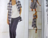 Uncut McCall's EASY Pattern 8178 for EVERYTHING Size 10 12 14 Dress Top Jacket Pants Shorts WARDROBE