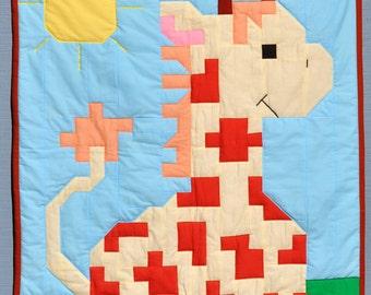 Giraffe baby quilt pattern (3 Sizes) - PDF