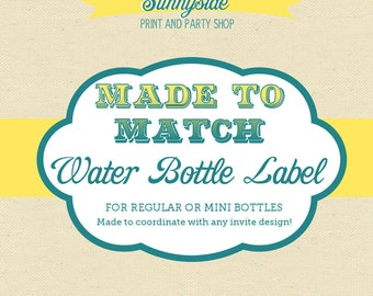 Made to Match - Water Bottle Label - Any Sunnyside Design