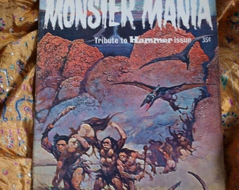 Monster Mania No 2 Frazetta Frankenstein Dracula LIving Dead Hammer Films Harryhausen Animation Issued 1967