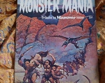 Monster Mania No 2 Frazetta Frankenstein Dracula LIving Dead Hammer Films Harryhausen Animation Issued 1967