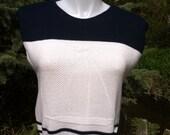 80s nautical sailboat sleeveless sweater medium