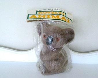 Vintage Toy - Koala Bear - Fuzzy Wuzzy Toy - Original Package - 1970's - Retro Toy Koala Bear