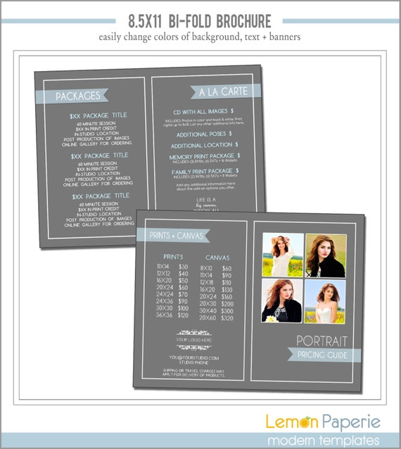 Items similar to brochure template marketing for 8 5 x 11 brochure template