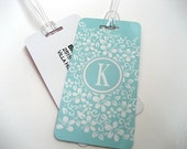 Luggage Tag 5-Pack- Blue Custom Monogram Luggage Tag - Travel Accessories - Personalized Luggage Tag -  Blue Travel Tag