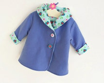 HEARTS HOODIE Children Baby Girl Boy Jacket pattern Pdf sewing, Reversible Hooded Coat, Toddler  newborn 3 6 9 12 18 m 1 2 3 4 5 yrs