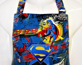 Apron Mens, MAN of STEEL, Sci-Fi, SUPERMAN, Super Hero, Chefs Style Grill Kitchen Gift