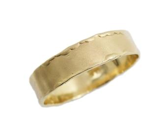 14K Matte gold wedding band. yellow gold wedding band. Curvy wedding band. (gr-9376-matte).  gold wedding band for men women, yellow gold,