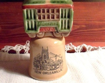 Streetcar Dinner Bell, Souvenir New Orleans Bell, St Charles Streetcar Line Bell