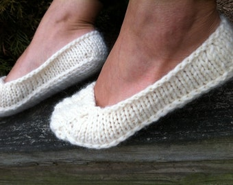Knitted Slippers / Knit Wool Socks / Bride Slippers
