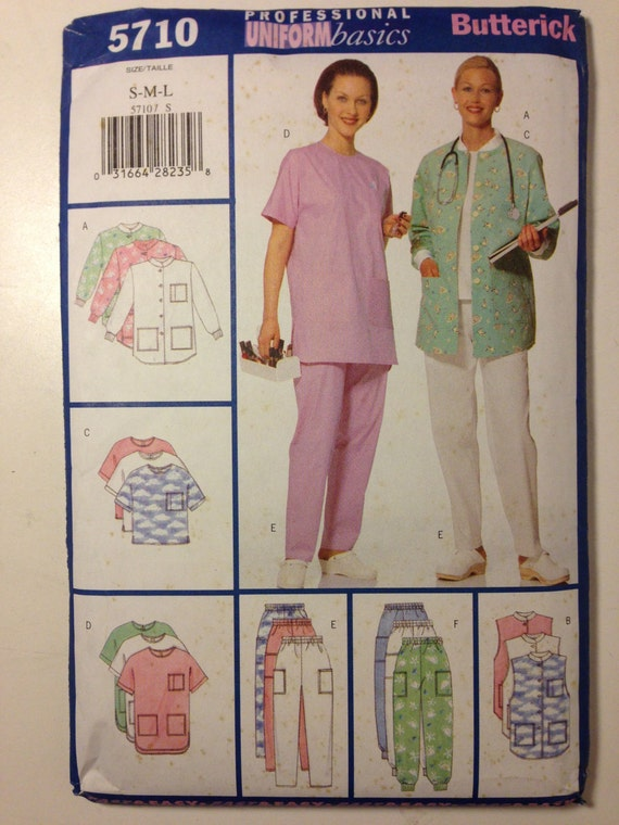 Butterick 90s Sewing Pattern 5710 Misses and Petite Jacket, Vest, Top and Pants Size S - L Sale