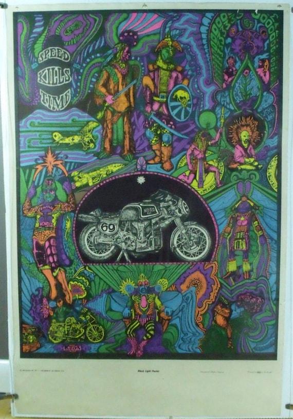Items similar to Vintage Blacklight Poster 1968 San ...