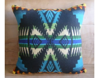 Turquoise Pillow - Bohemian Geometric Arrows