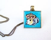 Guinea Pig Necklace - Hand Painted Art Jewelry Pendant