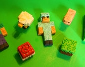 Steve, TNT, Armor, Creeper and More Cake Topper Decorations Inspired by Minecraft