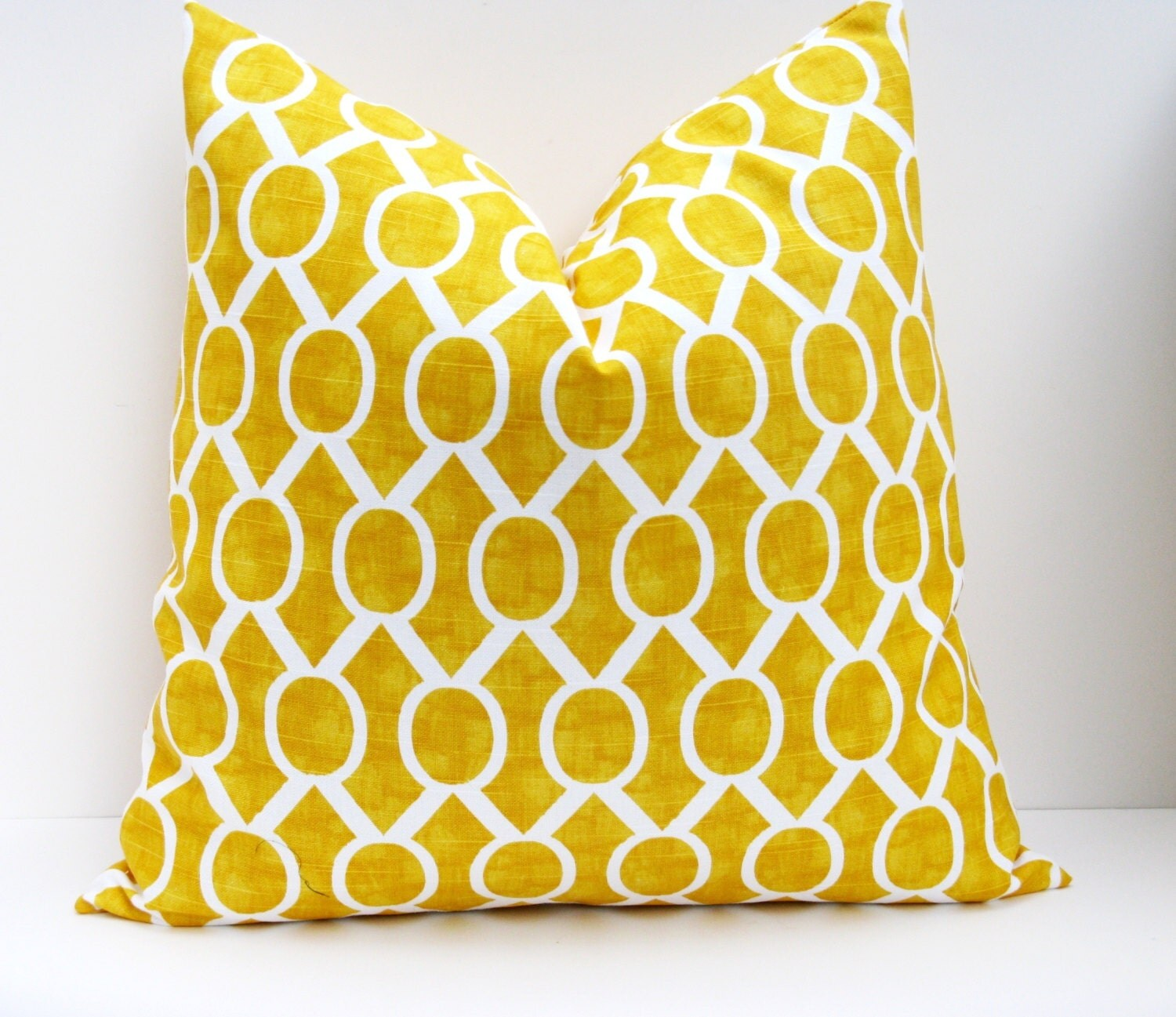 Yellow Pillow Cover Decorative Throw Pillow Lumbar by EastAndNest