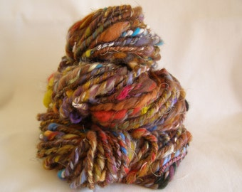 Textured Art Yarn, 48 yards, 4.1oz, 3 Ply, Navajo, Chain, Super Bulky, Multicoloured, Wild, Chow Mein.