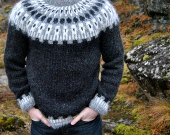 Sif Icelandic Sweater - Handmade with 100% Pure Icelandic Wool