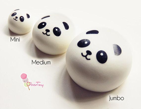JUMBO Panda Squishy Charm scented by UberTiny on Etsy