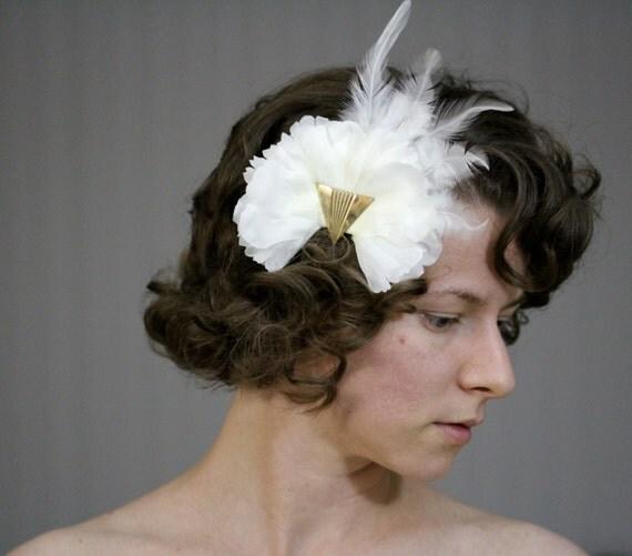 Altar Ego Wedding: Art Deco Hair Accessory Bridal 1920s Style Soft By