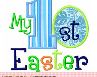 """Embroidery Design My 1st Easter egg Applique Embroidery Design for boys -4x4 5x5 6x6"""""""