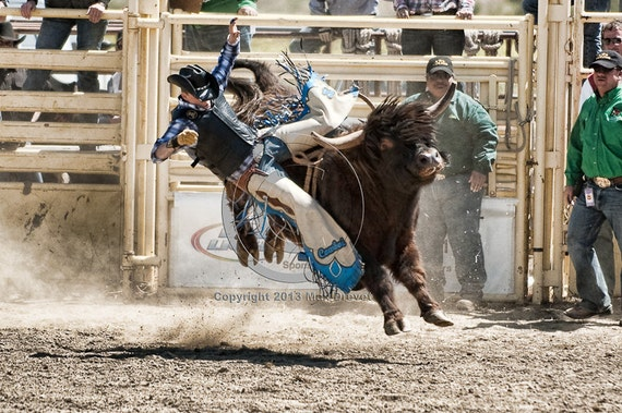 Rodeo Bull Riding Photo, Cowboy Art, Cowboy Photography, Rodeo Art, Fathers Day Gift