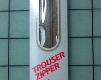 New, Coats & Clark 11 Inch Trouser Pants Zipper, Navy and Black with Locking Slider, Home Sewing Zipper, Pillow, Craft Project Zipper