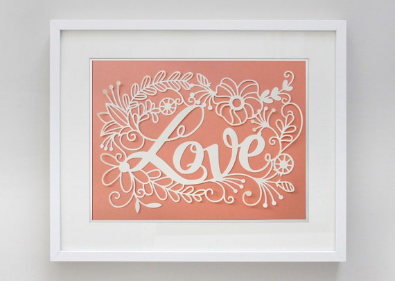 8 1/2 x 11in Love Papercut