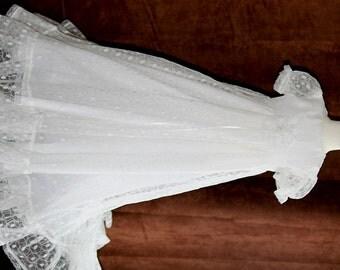 Baby Girls White Christening Dress (Blessing Dress, Baptism Dress)