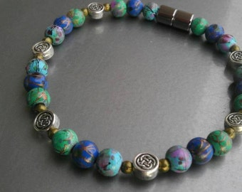 Celtic Knots and Ocean Blues Magnetic Bracelet, Anklet or Necklace !