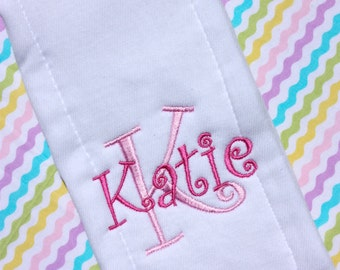 Personalized Embroidered Burp Cloth - Monogrammed - baby gift - cloth diaper